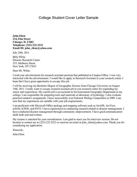 cover letter for college ra position mektup nasıl yazılır ve mektup 214 rneği