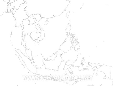 Asia Rivers Outline Map by South Asia Blank Map Grahamdennis Me