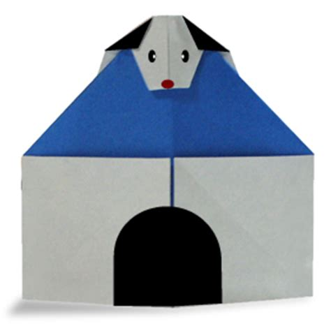 origami dog house origami dog on kennel