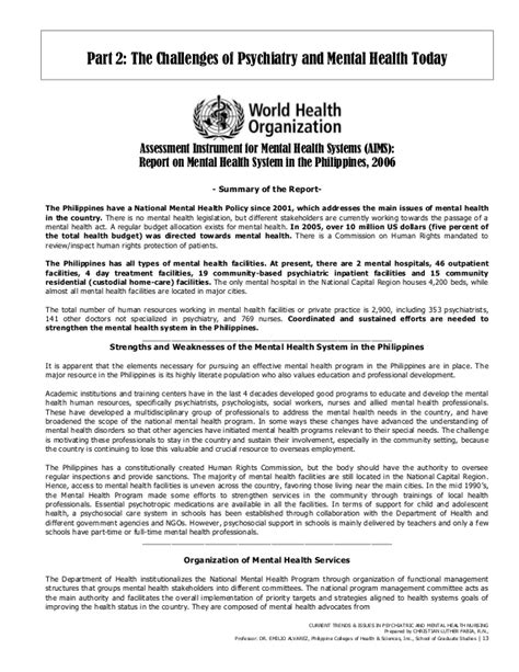 Advance Letter Tagalog Cris Luther S Trends And Issues In Psychiatric Mental Health Nursing