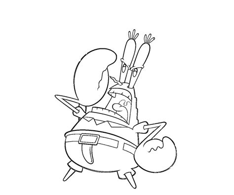 mr krabs coloring pages az coloring pages