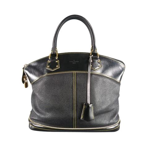 Louis Vuitton 2007 by Louis Vuitton Black Leather Cuir Suhali Yellow Stitching