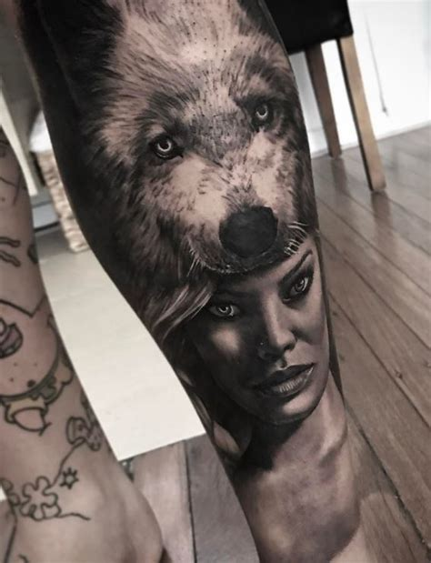 wolf head tattoo inkstylemag