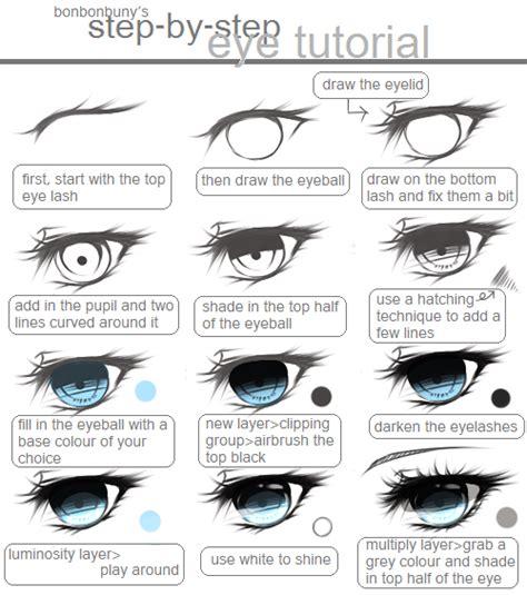 step by step eye colour tutorial by miivei on deviantart