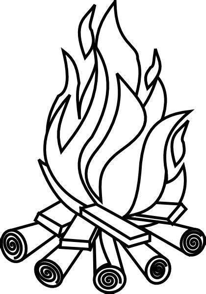 Firewood Black And White Clipart - Clipart Kid | Camping