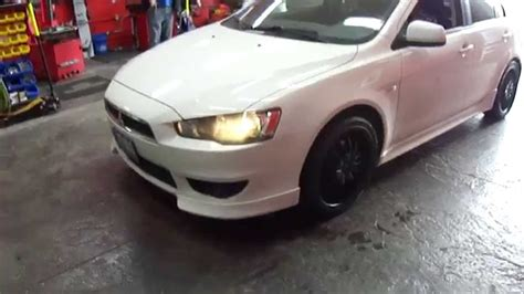 white mitsubishi lancer with black rims hillyard custom tire mitsubishi lancer gt 18 inch matt