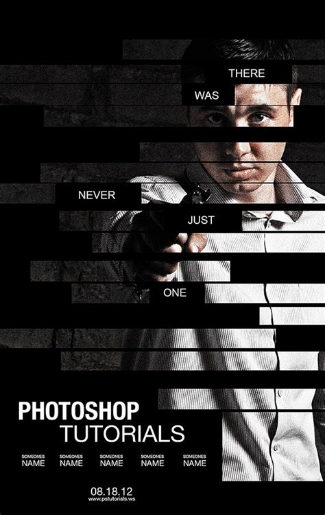 tutorial design poster create a poster inspired by the movie the bourne legacy