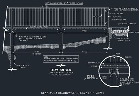 Detailed Search Wood Boardwalk Elevated Walkway Detail Cad Files Dwg Files Plans And Details
