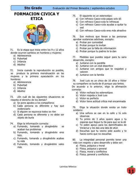 examenes de 4 primaria 5 bimestre 5to grado bimestre 1 11 12