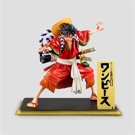 One Figure Luffy Pop Msib one pop monkey d luffy kabuki edition 19cm model toys collectible anime pvc figure