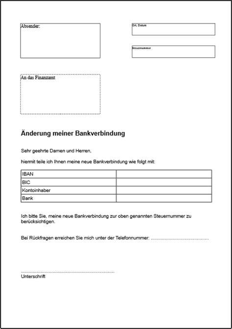 Word Vorlage Sepa überweisung 196 nderung der bankverbindung finanzamt pdf vordruck