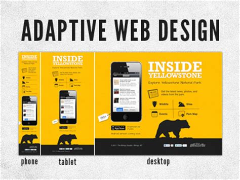 adaptive layout web design understanding the difference between responsive and