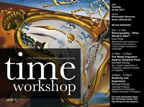 Nus Time Mba Duration by Time Workshop 23 Apr Philosophy At Nus