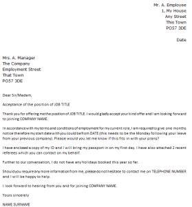 job offer acceptance letter icoverorguk