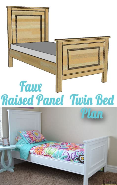 raised twin bed twin bed with faux raised panel her tool belt