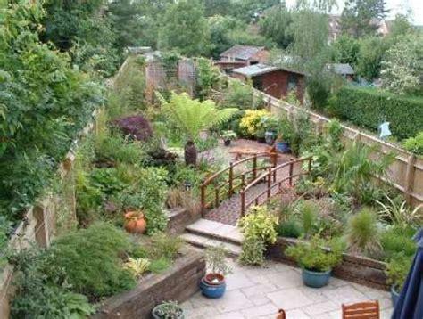 garden design ideas for long thin gardens home decor