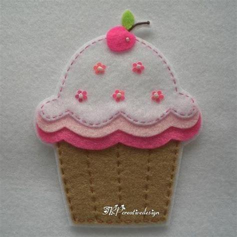 pattern felt cupcake handmade cupcake felt applique big double by