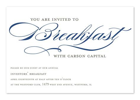 Invitation Letter For Breakfast Meeting Invited To Breakfast Corporate Invitations By Invitation Consultants Ic Rlp 1117