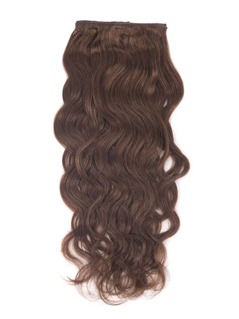 Hair Clip Asli Human Hair 24 inch wavy clip in remy human hair extensions 33 rich copper 9 pieces