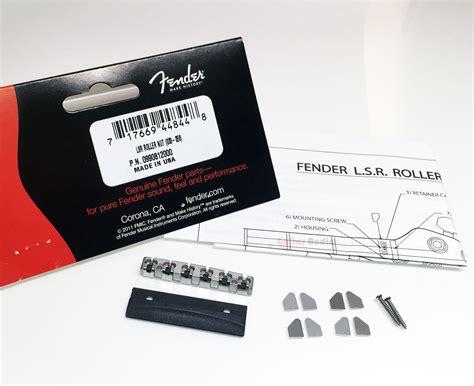 Fender Genuine Lsr Roller Nut genuine fender lsr roller chrome guitar neck string nut with mounting hardware ebay