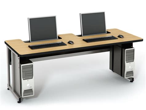 recessed lcd table computer lab tables classroom