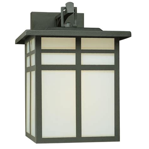 outdoor wall lighting mission 1 light black outdoor wall mount