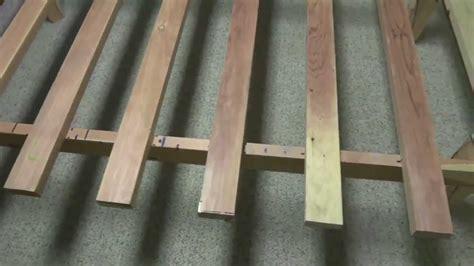 making  simple wooden bed frame bedframe youtube