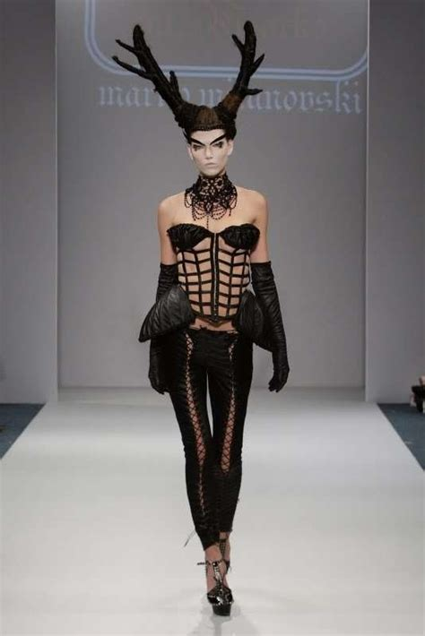 Horn Style Sml Dress horns cages lace up marko mitanovski summer 2010 is avant garde apocalyptic
