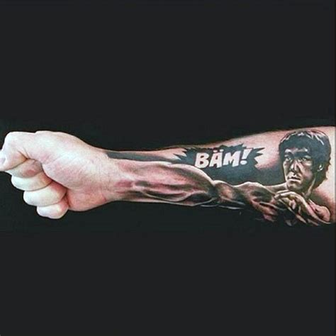 bruce lee tattoo designed awesome black and white bruce with