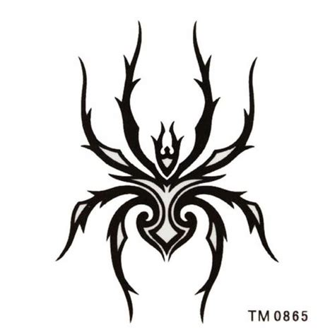 Tribal Style tribal style black ink spider shaped pm