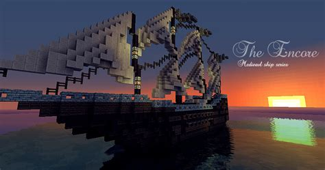 minecraft cargo boat the encore medieval ship series download minecraft project