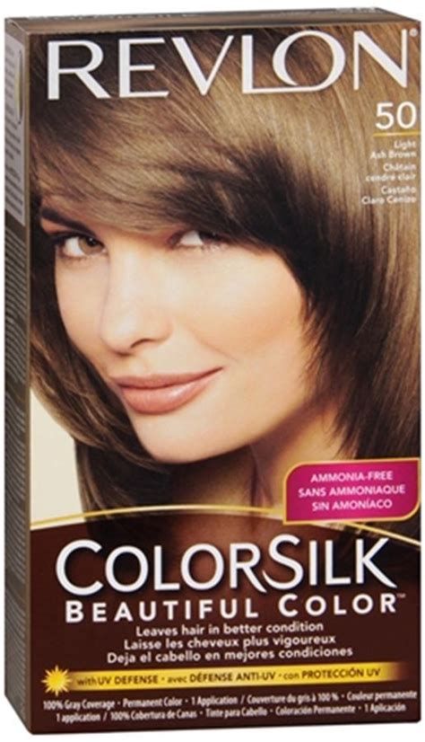 revlon light caramel brown revlon colorsilk hair color 50 light ash brown 1 each ebay