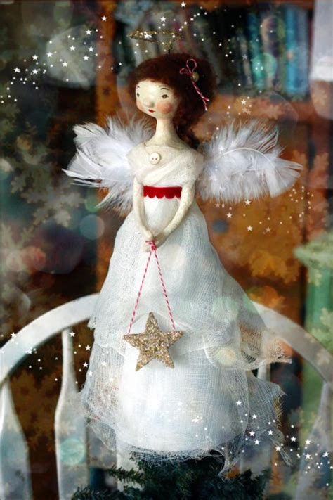 old fashioned angel tree topper think crafts by