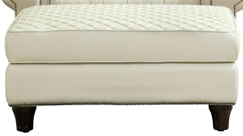Wellesley Ivory Quilted Leather Ottoman 704504 5001aa