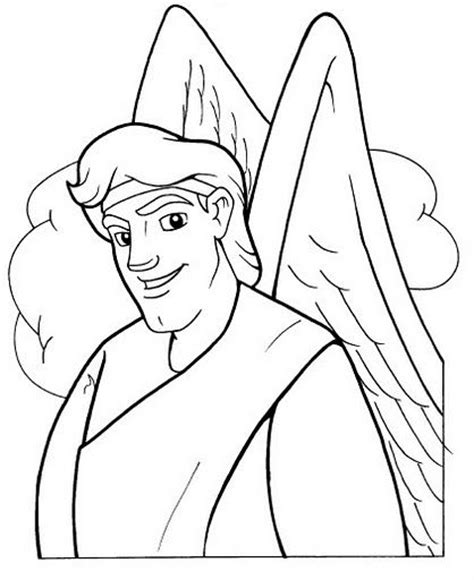 Gabriel Coloring Sheet Advent Pinterest Coloring And Gabriel Coloring Page