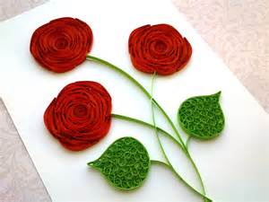 How To Make Roses Out Of Paper - quilling tutorial how to make a with a paper