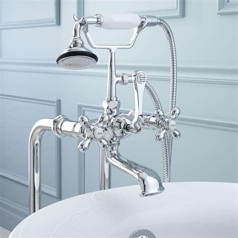 bathroom tub faucets freestanding telephone tub faucet supplies and drain metal cross handles tub