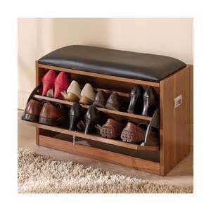 meuble coffre rangement chaussures fonction banc