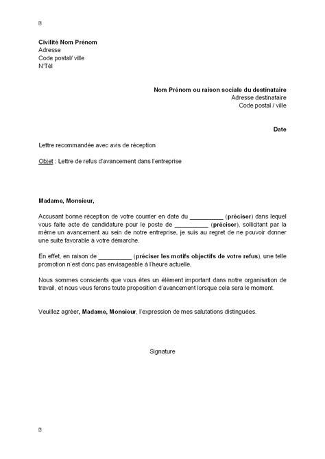 Modele Lettre De Recours Pour Un Refus De Visa Court Séjour Modele Lettre Refus Embauche
