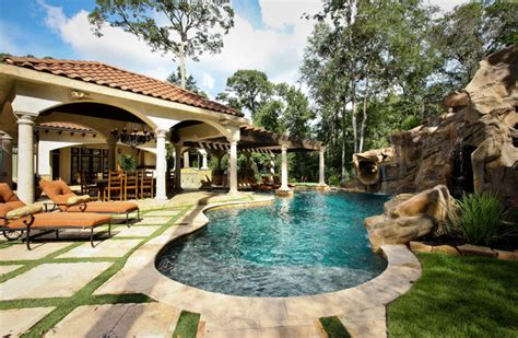 mediterranean pools the formal natural mix mediterranean pool houston
