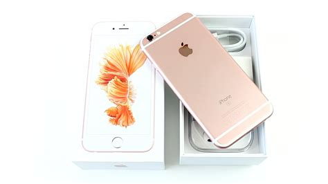 apple iphone  rose gold deballage  premiere prise en main unboxing francais youtube
