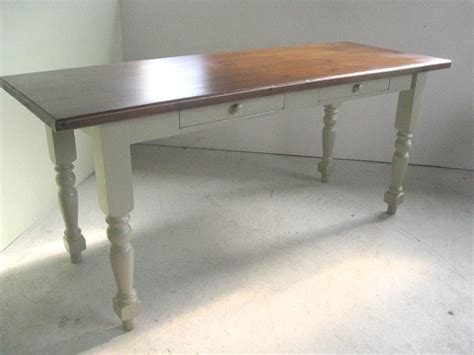 made coastal style kitchen table with white legs by