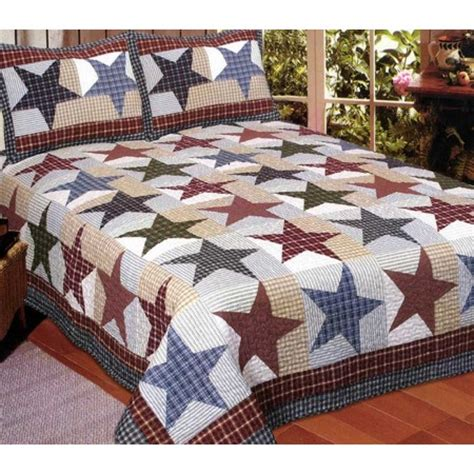 King Size Quilt And Shams Quilts For Cabins Lodge Quilts Sets Rustic Quilt And