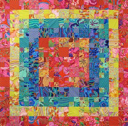 Fabric Inspirations Patchwork - bloom quilt by valori kaffe fassett fabrics
