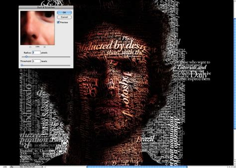 typography tutorial for photoshop super easy typographic portrait in photoshop