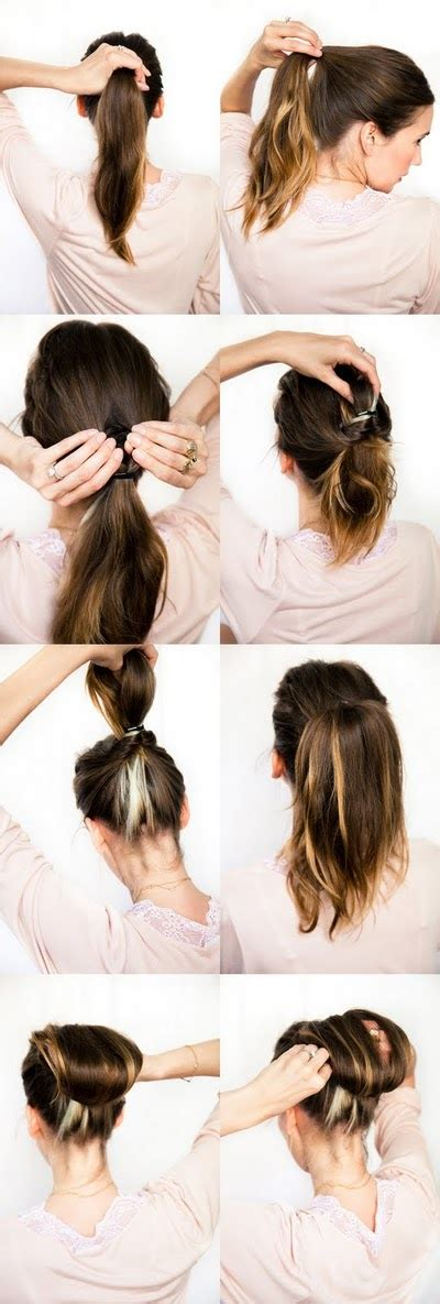 bun hair direction step by step directions for updos medium length long