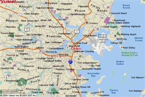 map of boston area boston area map my