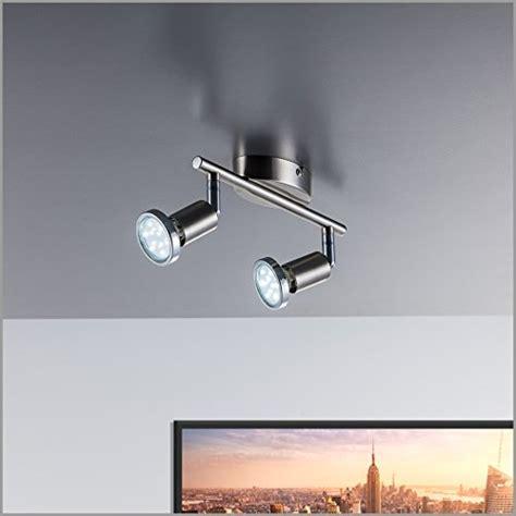 Led Wohnzimmerleuchte by Led Deckenleuchte Schwenkbar Inkl 2 X 3w Leuchtmittel