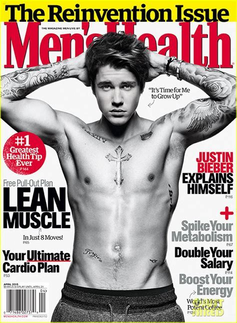 Justin Bieber Men S Health April