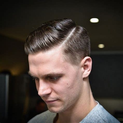 undercut part hair men classic side part barbershops pinterest modern